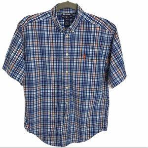 Boys Ralph Lauren Button Shirt Large 16-18